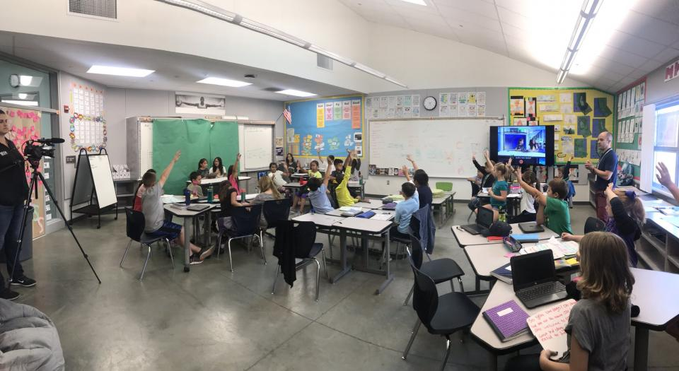 Students engaged in the classroom